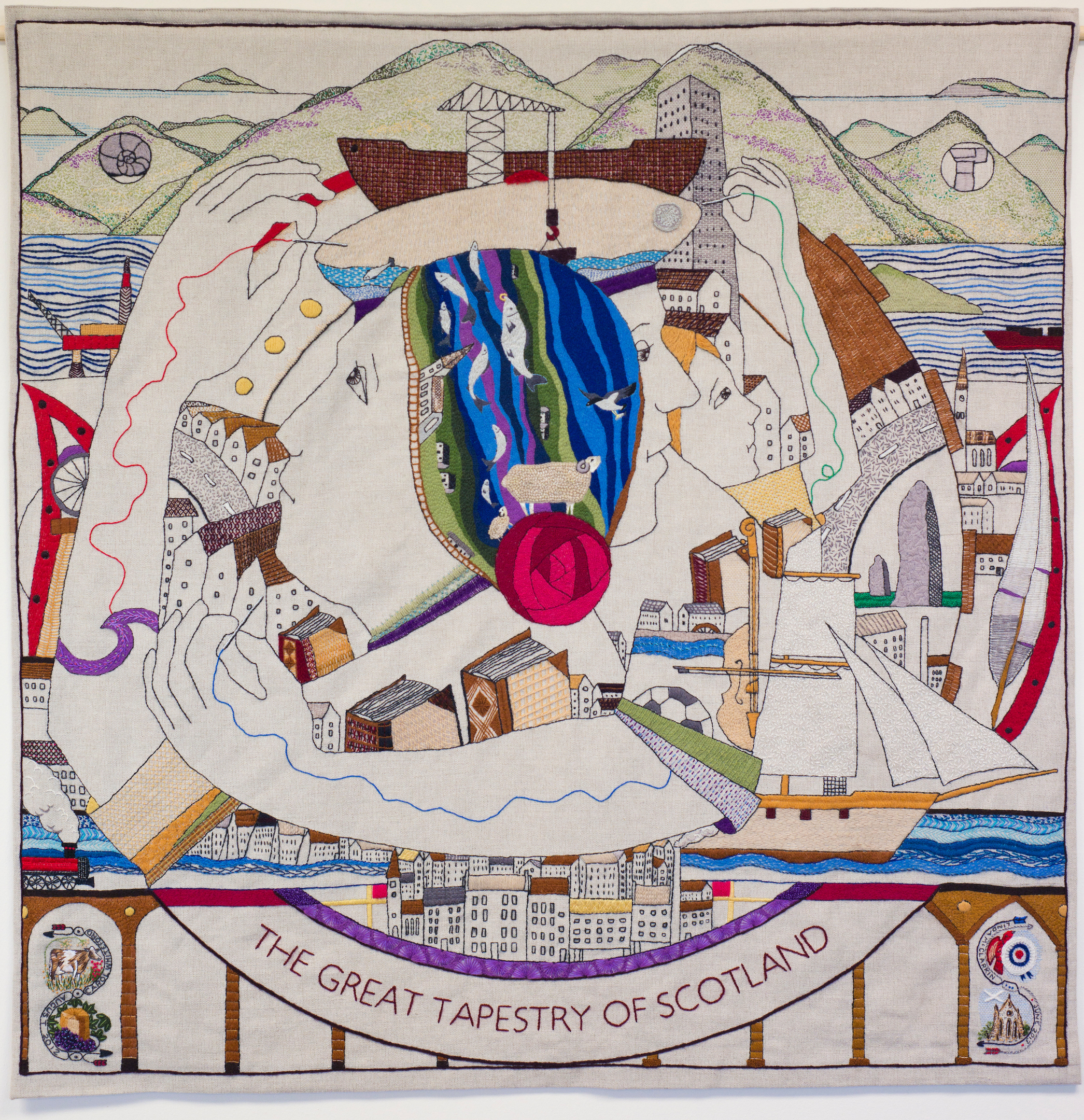 The tapestry depicts 2,000 years of Scotland's history