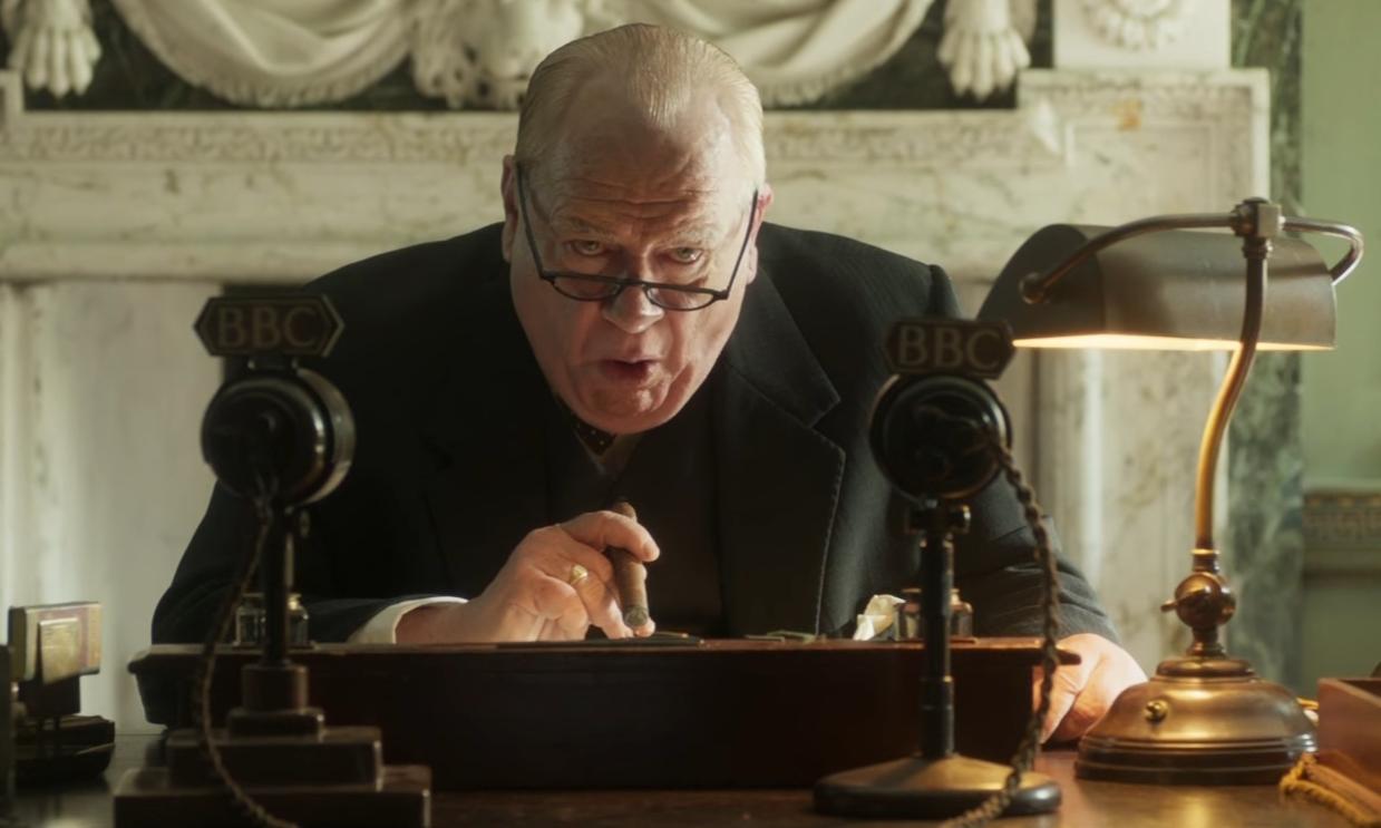 Brian Cox as Churchill.