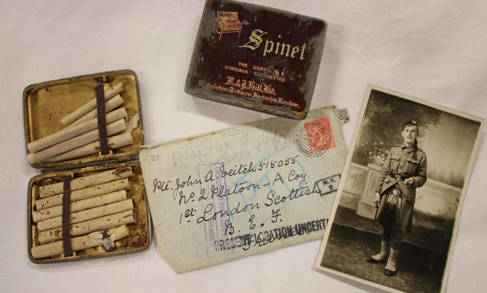 Possessions of WWI soldier John Alex Veitch.