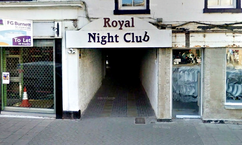 Pirie and a friend had been asked to leave The Royal Nightclub in Forfar.