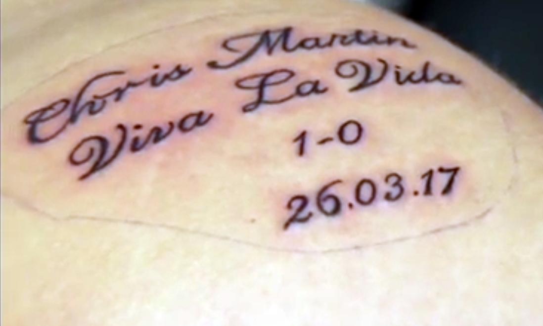 The new tattoo.