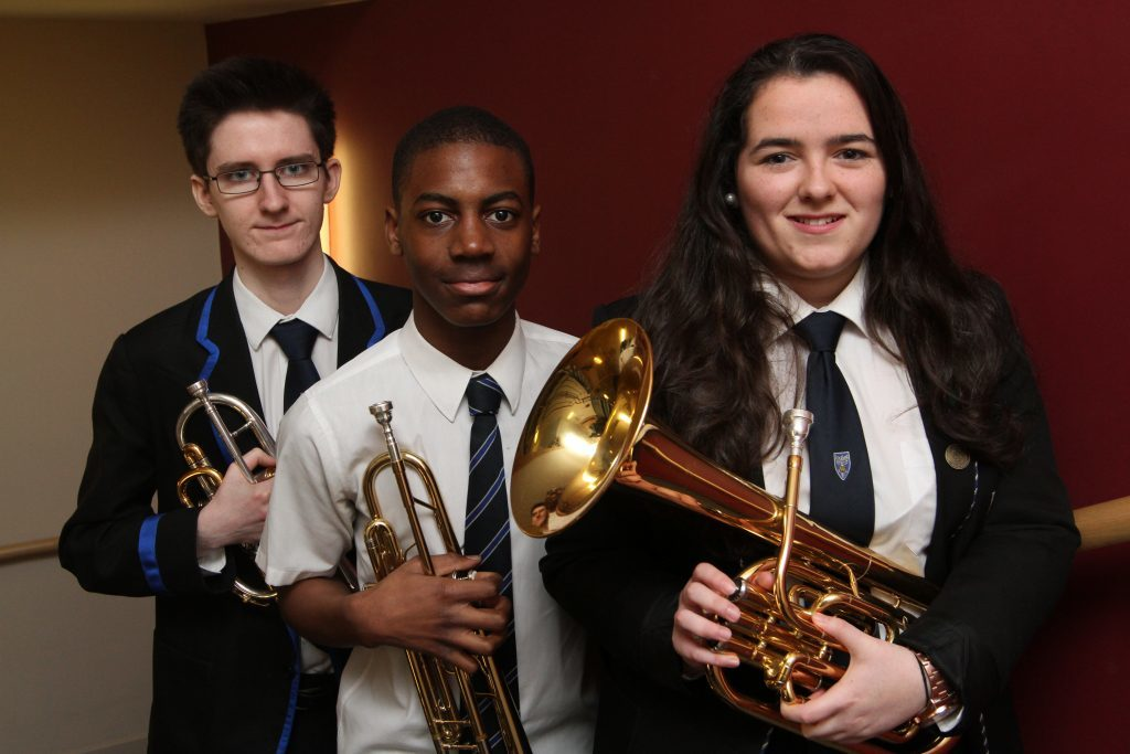 Dundee's RC St John's Secondary School pupils Bailey Brennan, 17, Tega Digba, 14 and Claudia Carena, 17 took part in 2017.