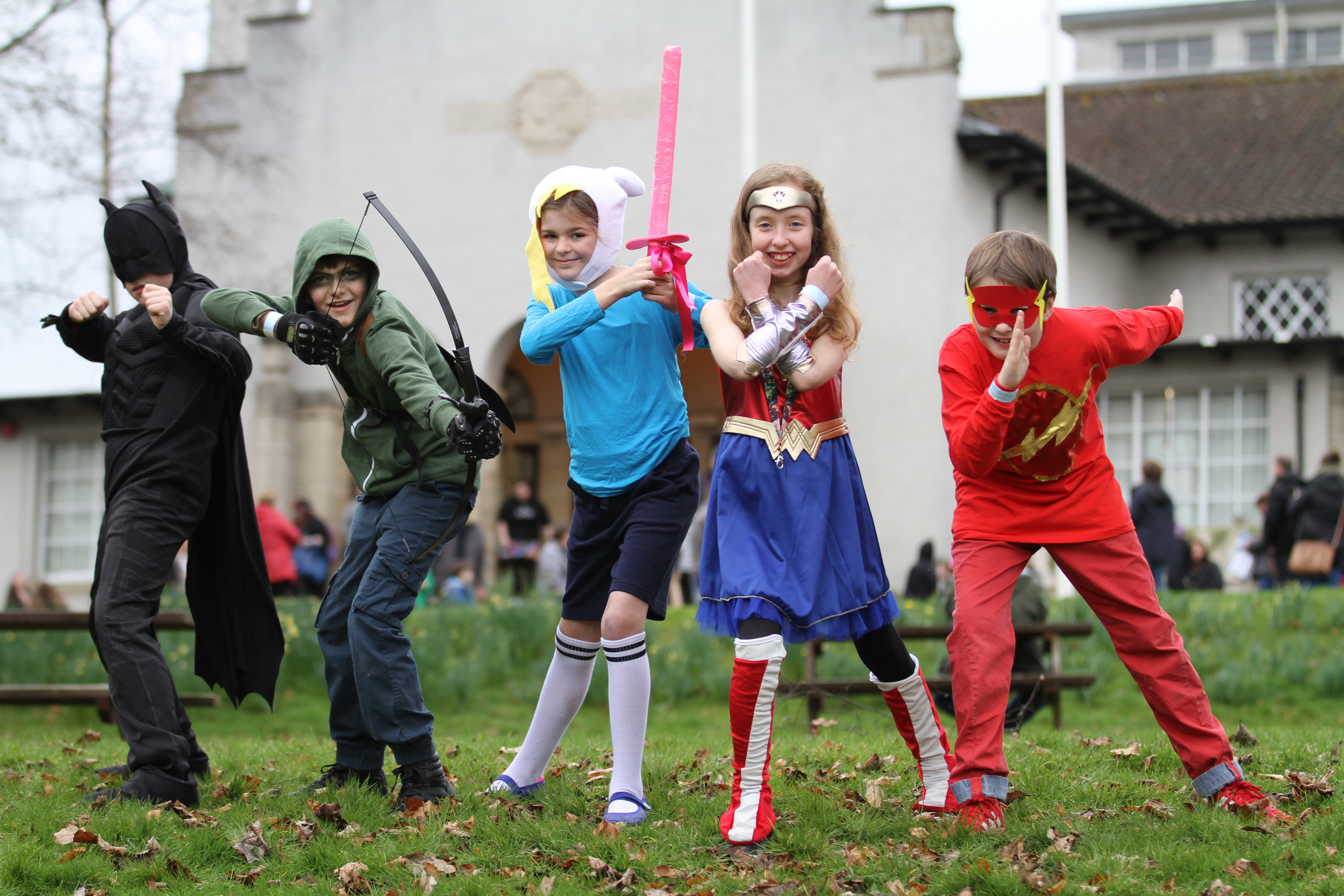 Superheroes demonstrate their super powers at Dunfermline Comic Con