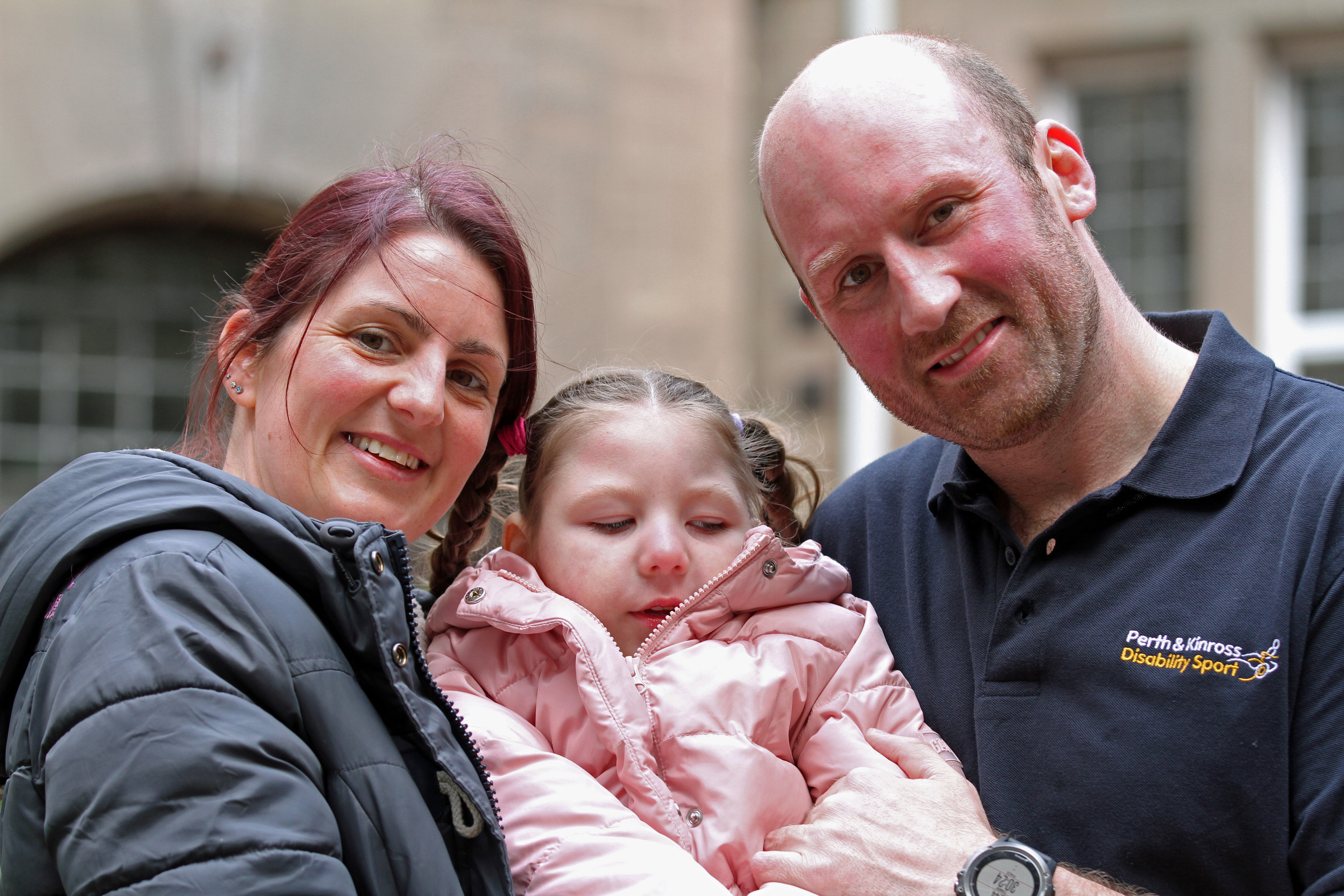 Stuart is running the London Marathon to raise money for his four-year-old neice