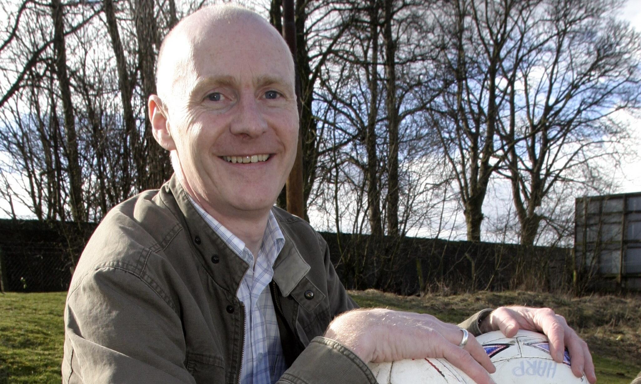 Mike Kelly of Lochee Harp JFC.