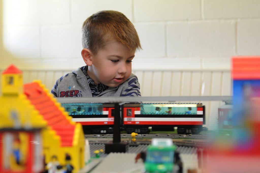 Fife Model Railway Club hosted an exhibition - Josh Tallis enjoyed controlling the lego trains