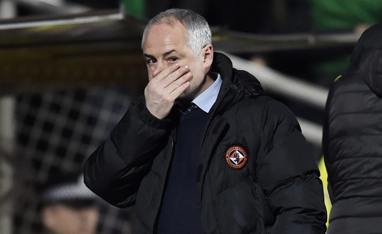 Ray McKinnon at the final whistle.