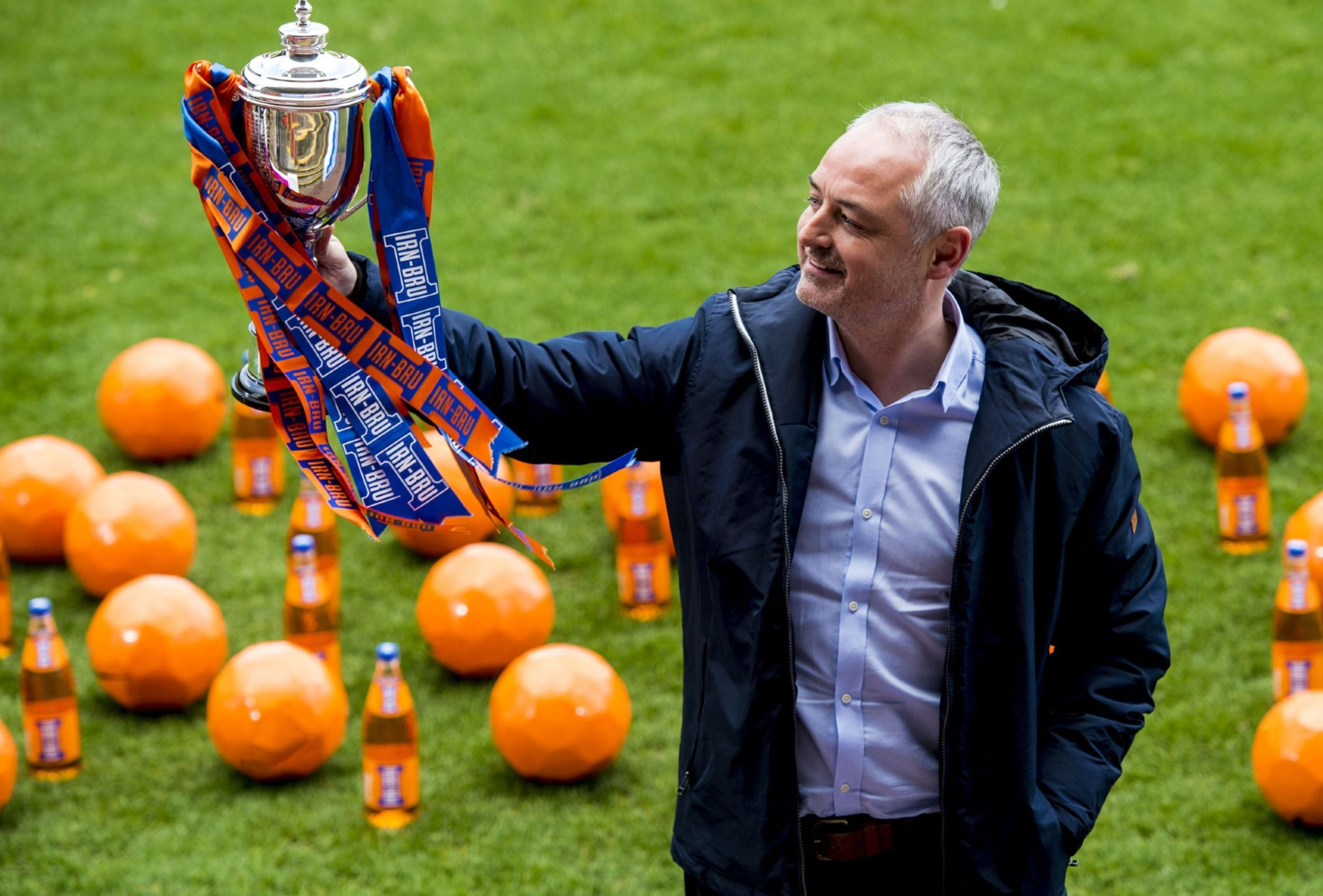 Ray McKinnon with the Irn-Bru Cup.