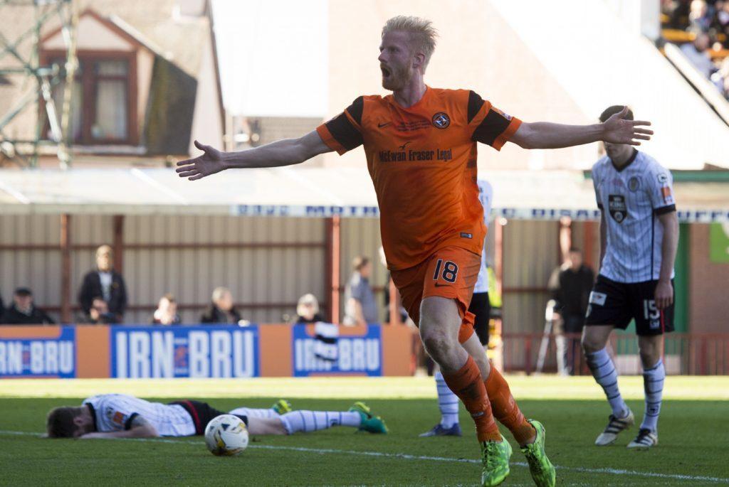 25/03/17 IRN-BRU CUP FINAL DUNDEE UTD v ST MIRREN FIR PARK - MOTHERWELL Dundee Utd's Thomas Mikkelsen celebrates his goal