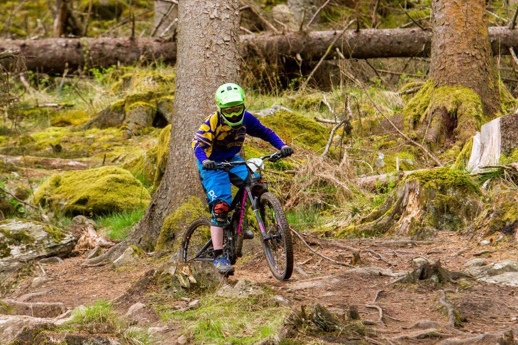 Cameron Chisholm (aged 13 from Perth) steps-up to the challenge of the Dunkeld Enduro.
