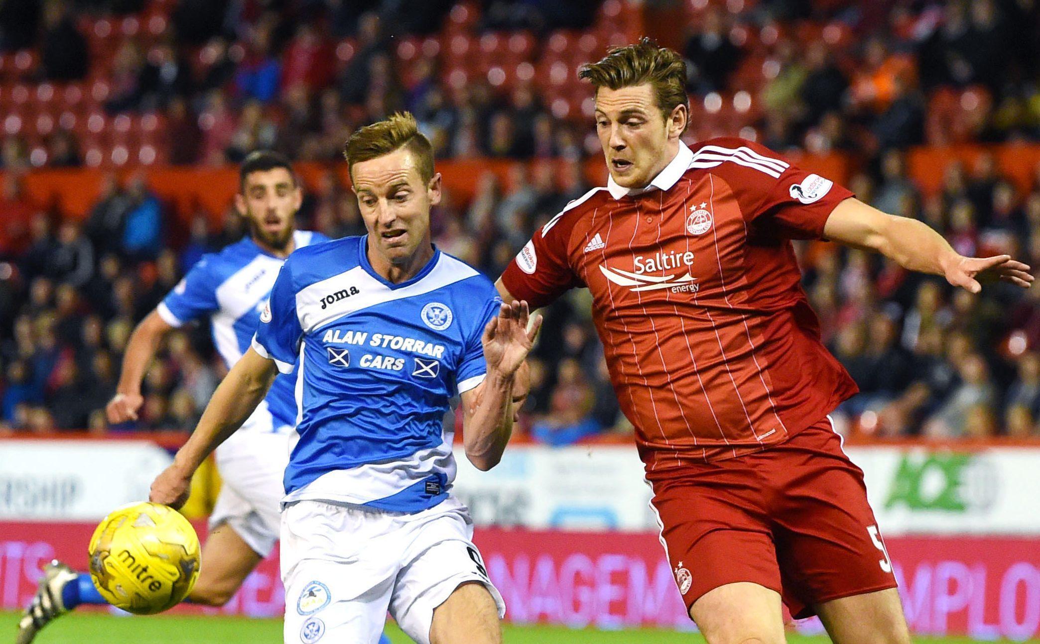 Steven MacLean playing against Aberdeen last season.