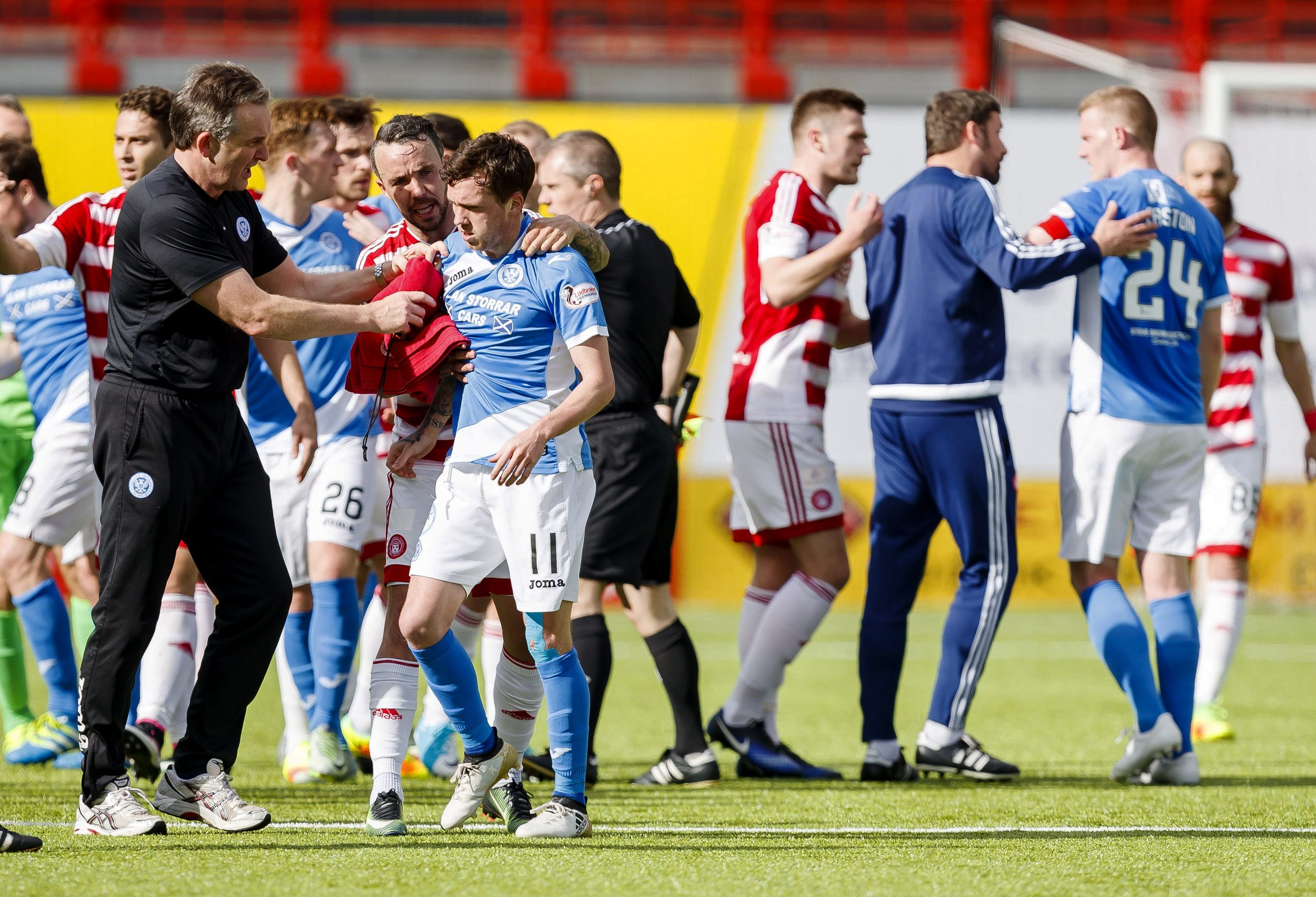 It all kicked off at the Hamilton Accies v St Johnstone match.