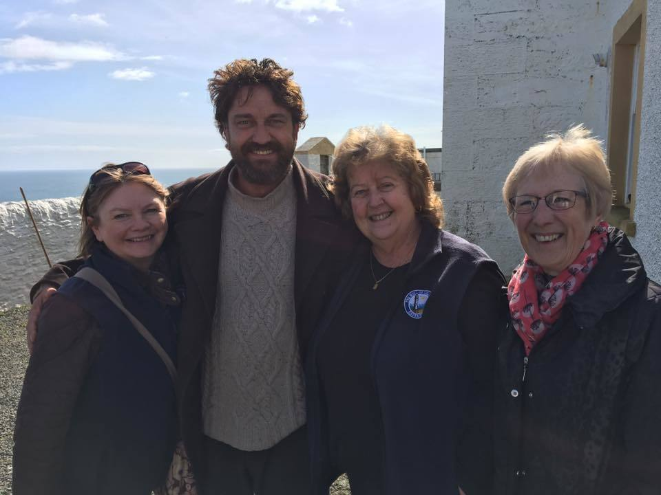 Butler pictured with with Alison Smith,  Maureen Chand and Dianne James at Mull of Galloway Lighthouse.