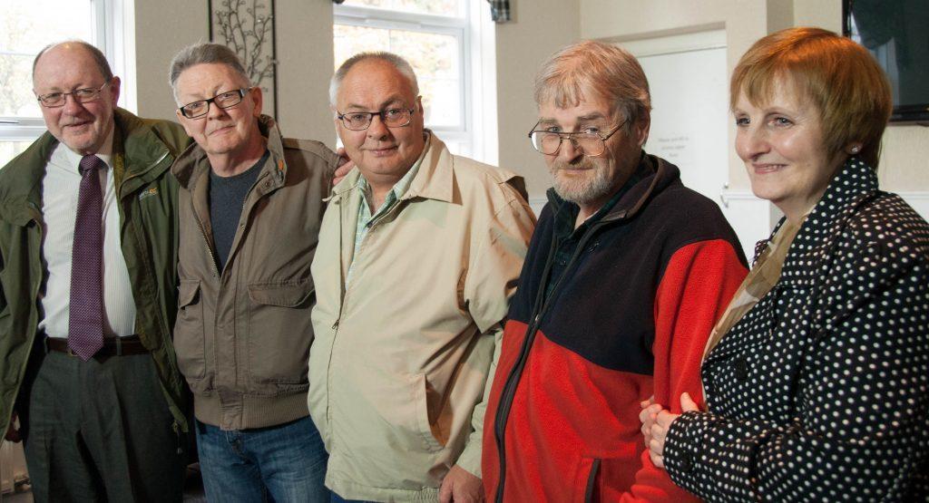 Ian Savage (born Peter Fleming Clark), Bernard Clark,  Andrew, James and Joan Clark.
