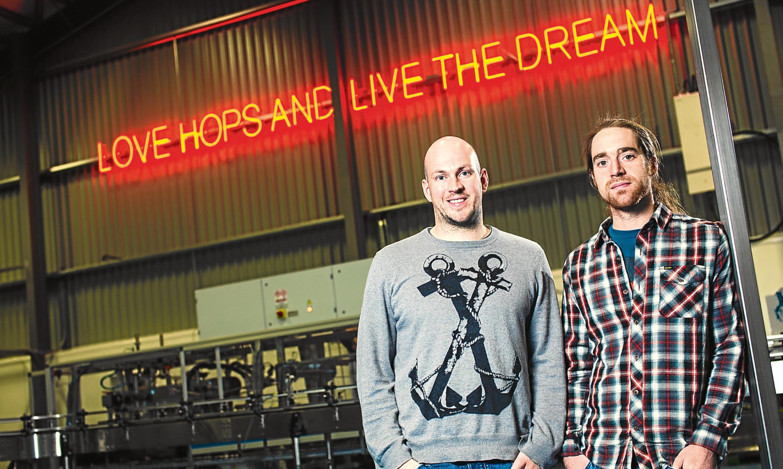 BrewDog co-founders James Watt and Martin Dickie