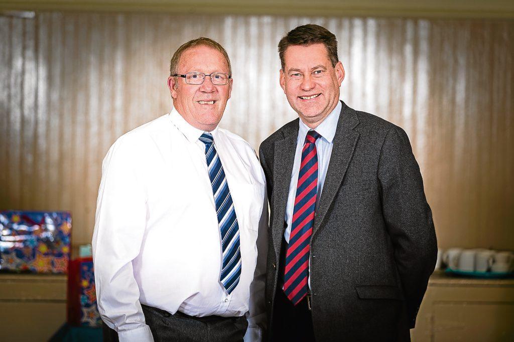 Ian James, left, with senior Scottish Conservative Murdo Fraser.