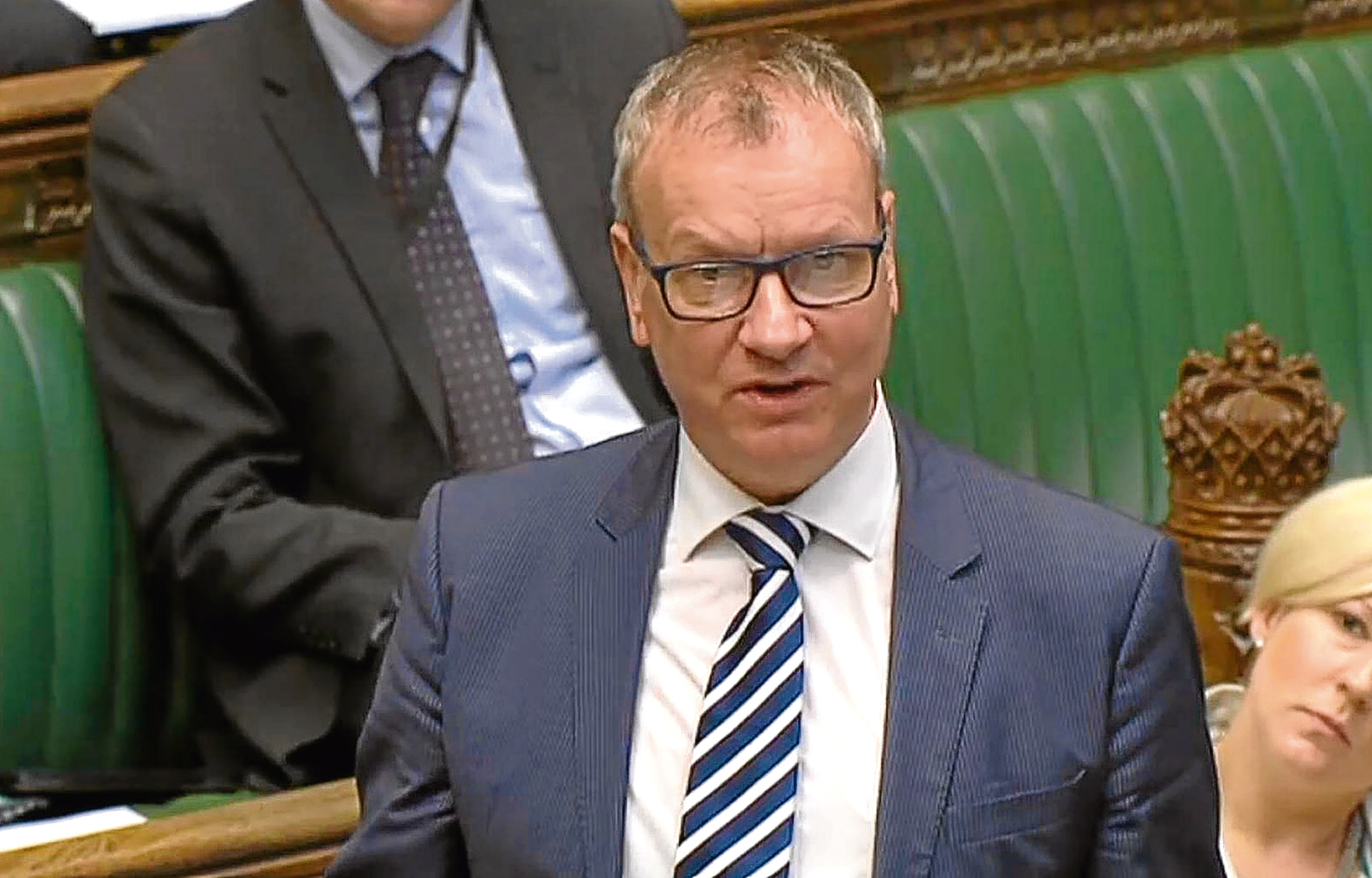 SNP Perth and North Perthshire MP Pete Wishart speaks in the House of Commons.