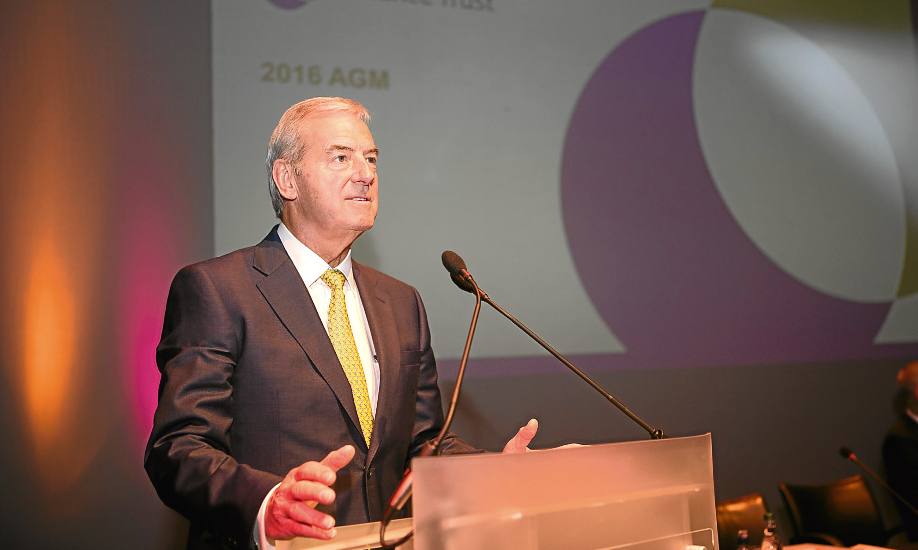 Lord Smith of Kelvin  addresses shareholders at the Alliance Trust AGM