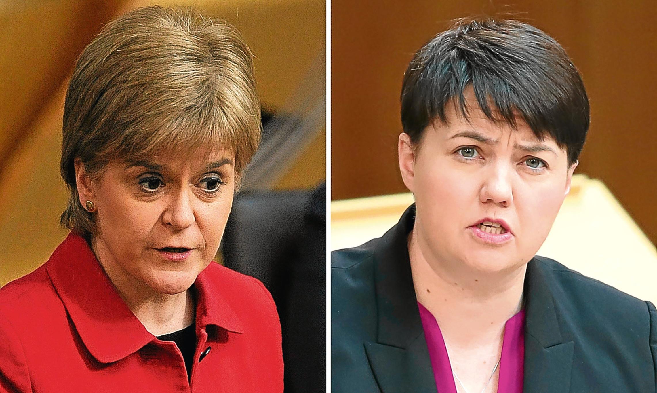 Nicola Sturgeon and Ruth Davidson.