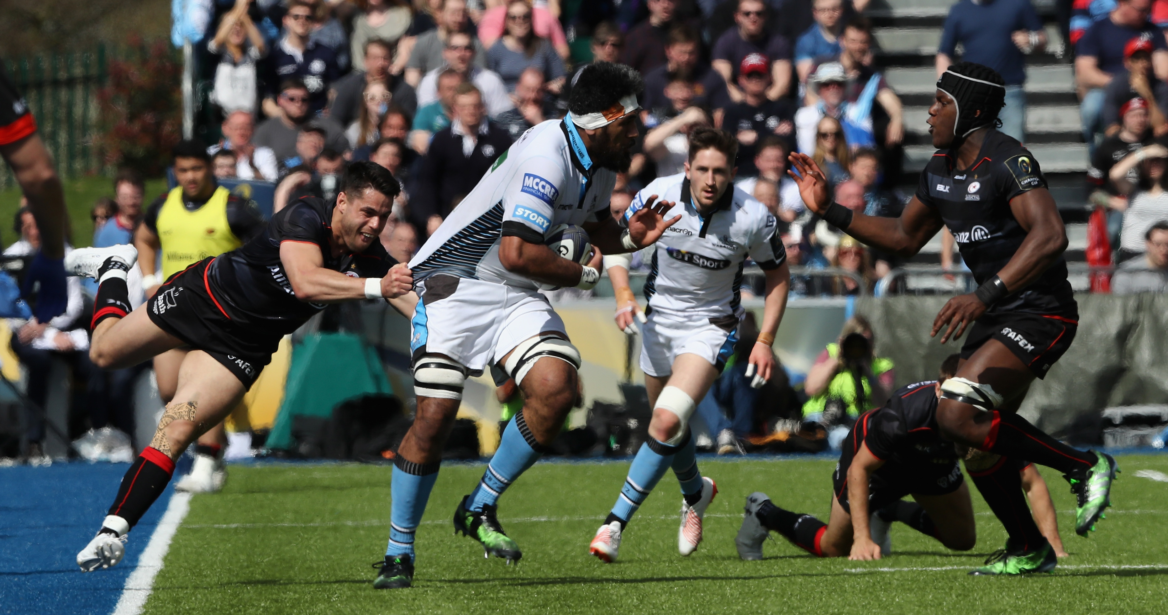 Glasgow Warriors lost to eventual winners Saracens in the quarter-final of this year's European Rugby Champions Cup.
