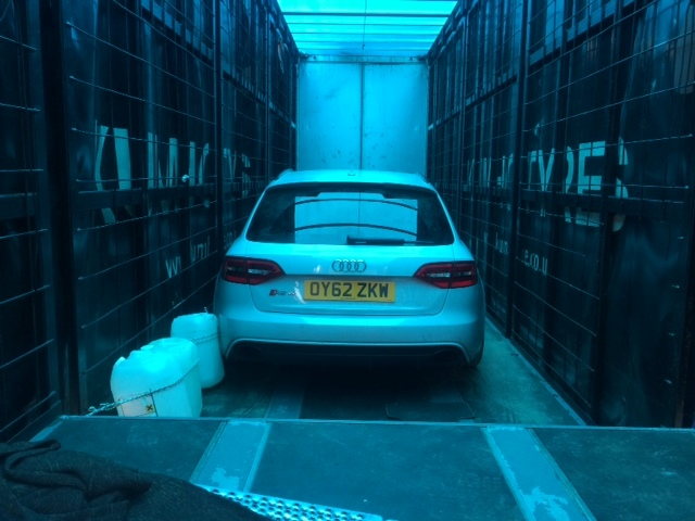The convicted gang hid stolen high performance cars in the back of a stolen lorry