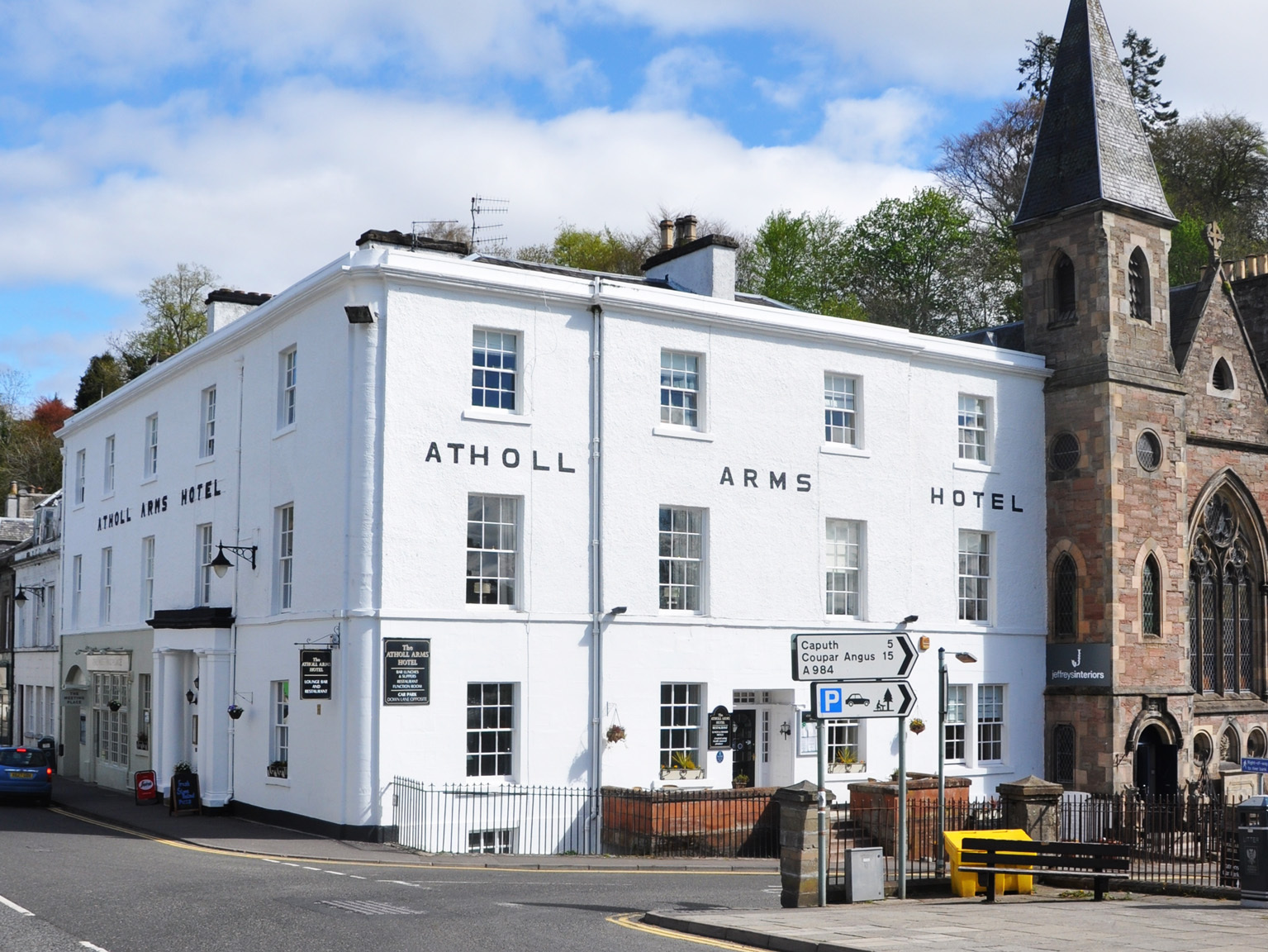 The Atholl Arms Hotel in Dunkeld.