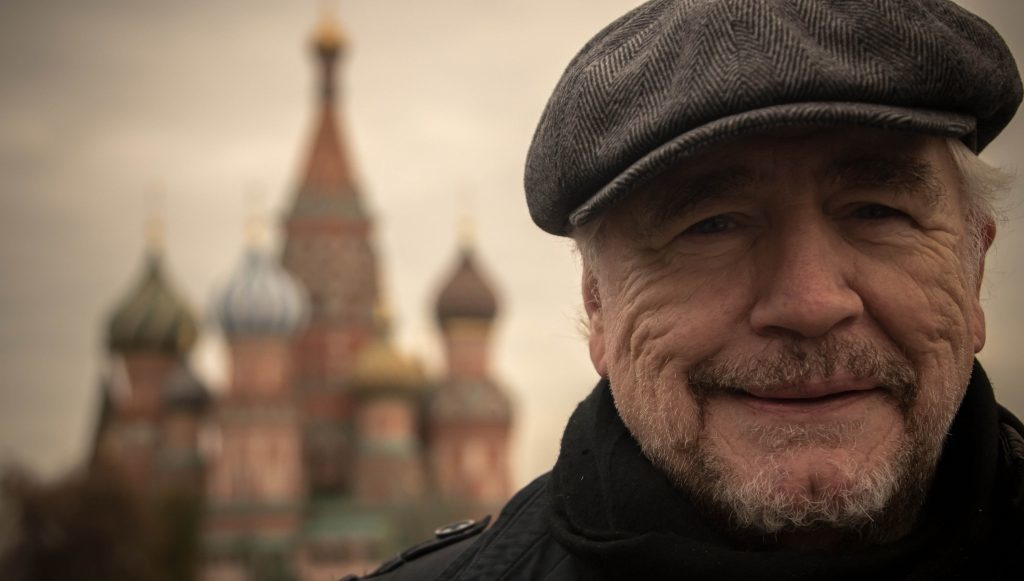 Brian Cox in Red Square, Moscow