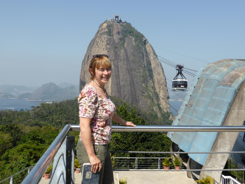 Bridget at Sugar Loaf Rio.