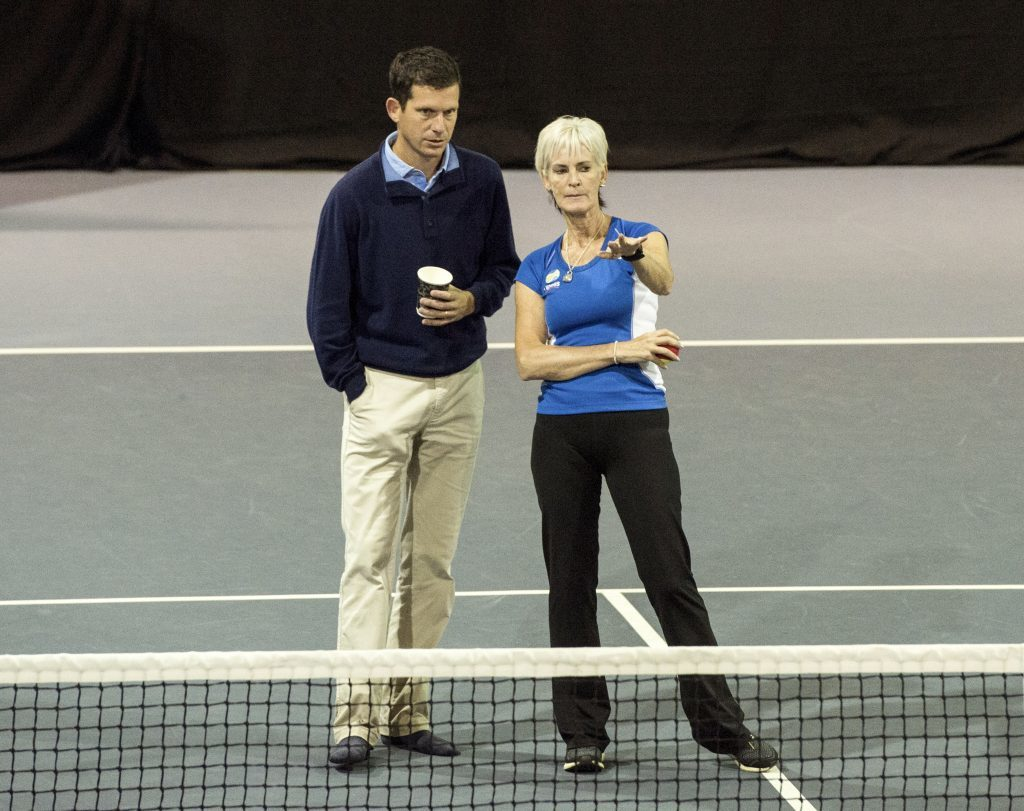 Tim Henman and Judy Murray, pictured at the 2016 event, hope the success of this year's two-day gathering will help to boost the sport's profile in Scotland.