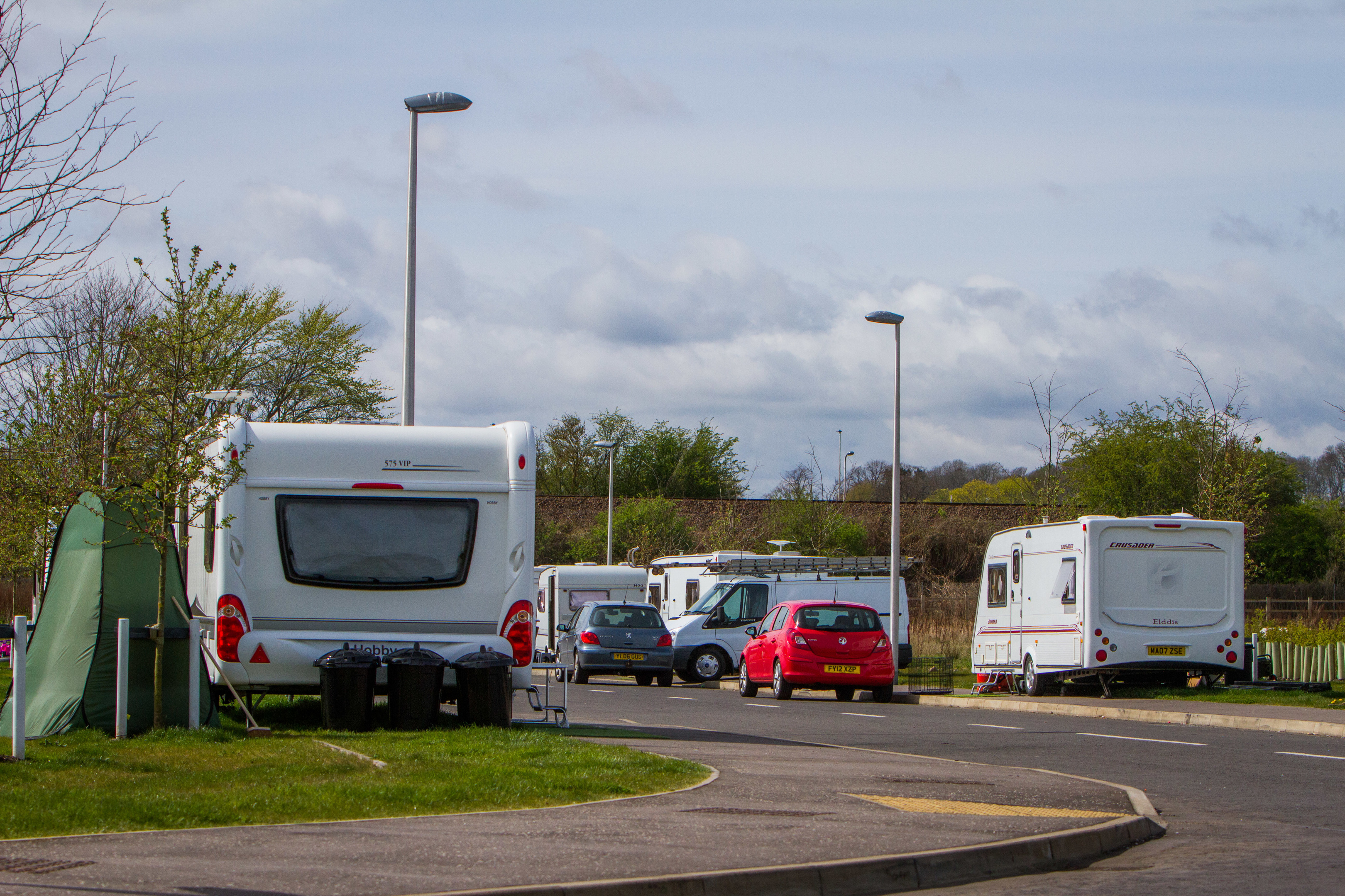 Travellers at the Food and Drink Park.