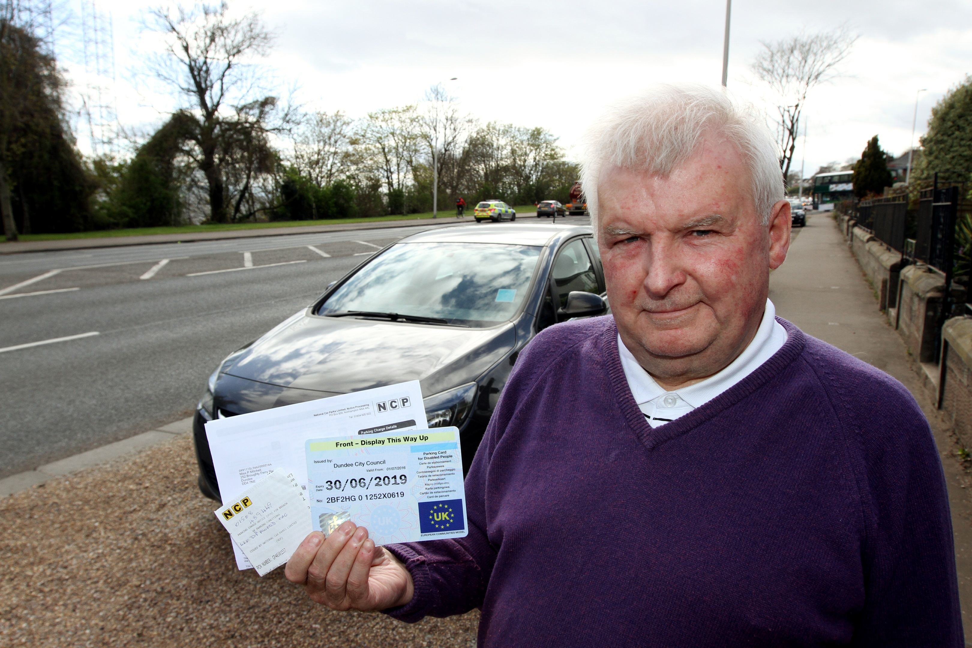Blue Badge holder Mr Mitchell has been using the NCP car park for free for years.
