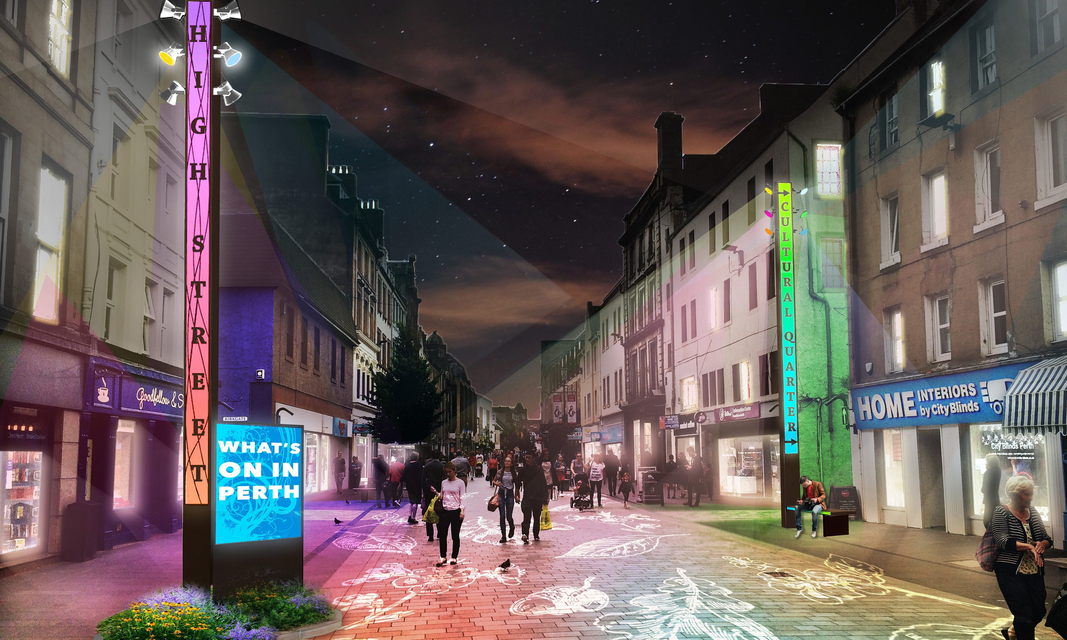 How Perth High Street could look as part of City of Light plan.