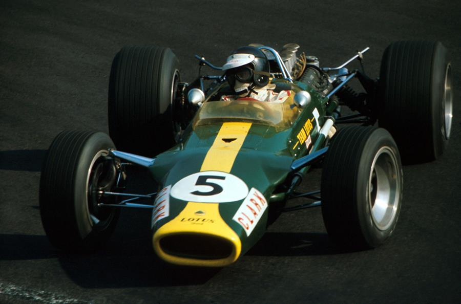Jim Clark in a Lotus Cosworth 49