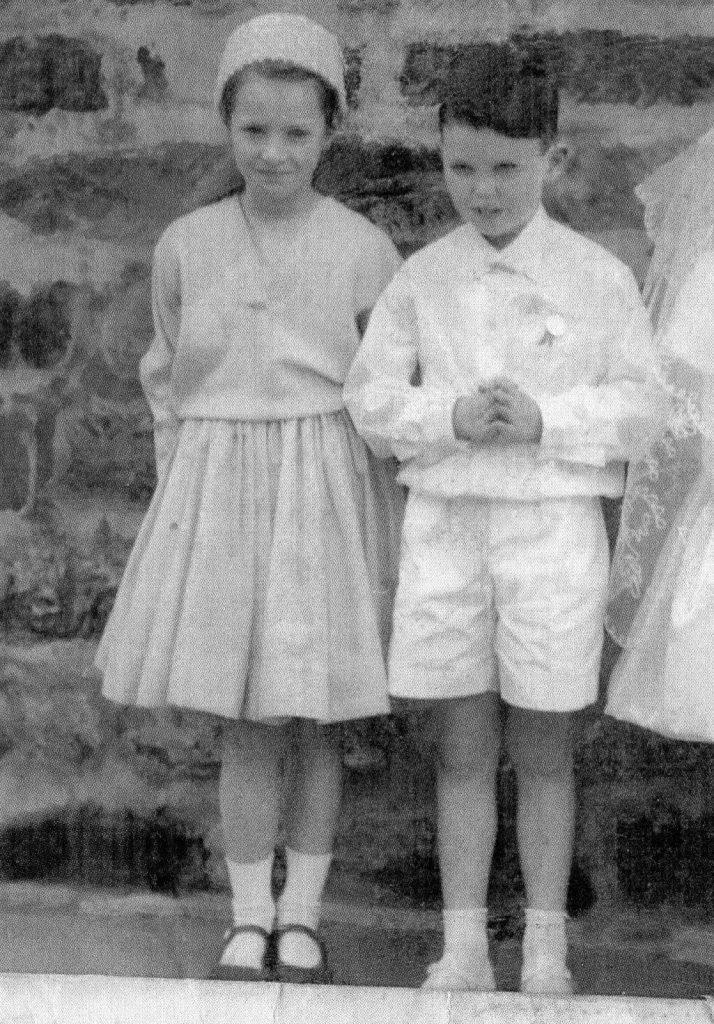 Joan andBernard Clark as children