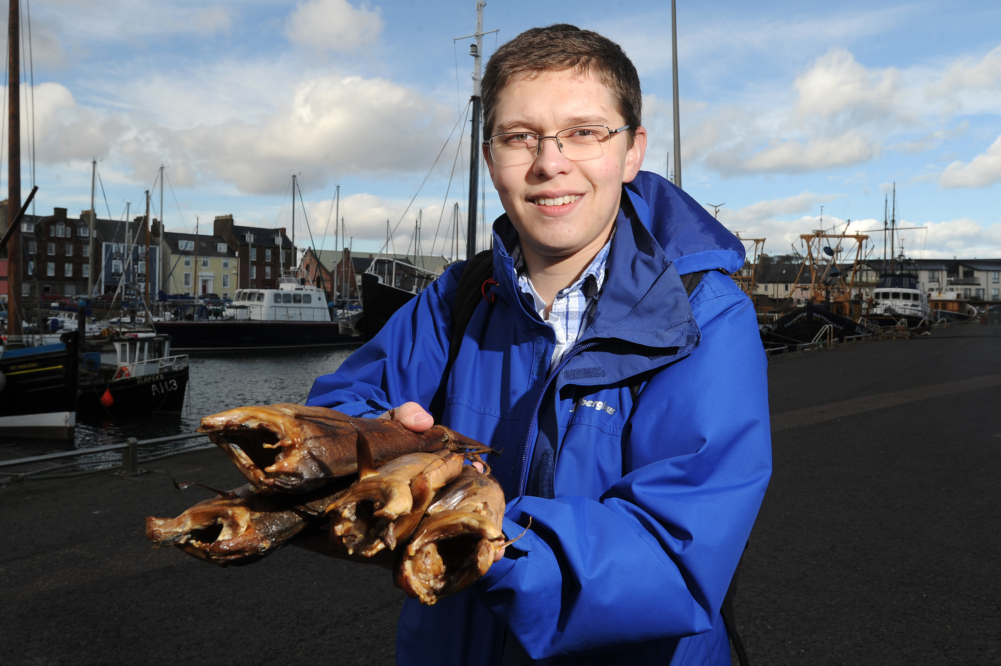 Geologist Hunor Deak fell in love with Arbroath when he moved here from Romania six years ago.