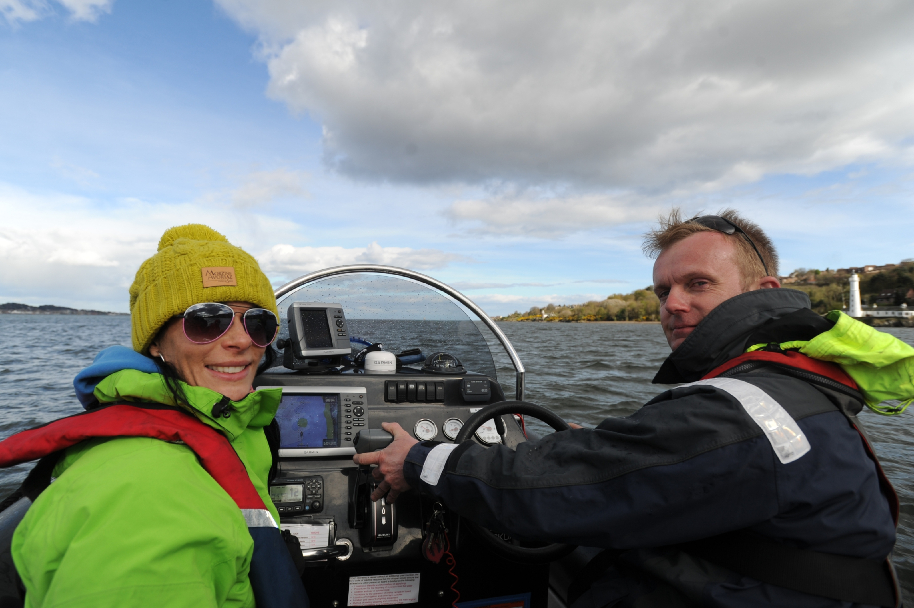 Gayle Ritchie and Ian Ashton on a Tay boat trip.