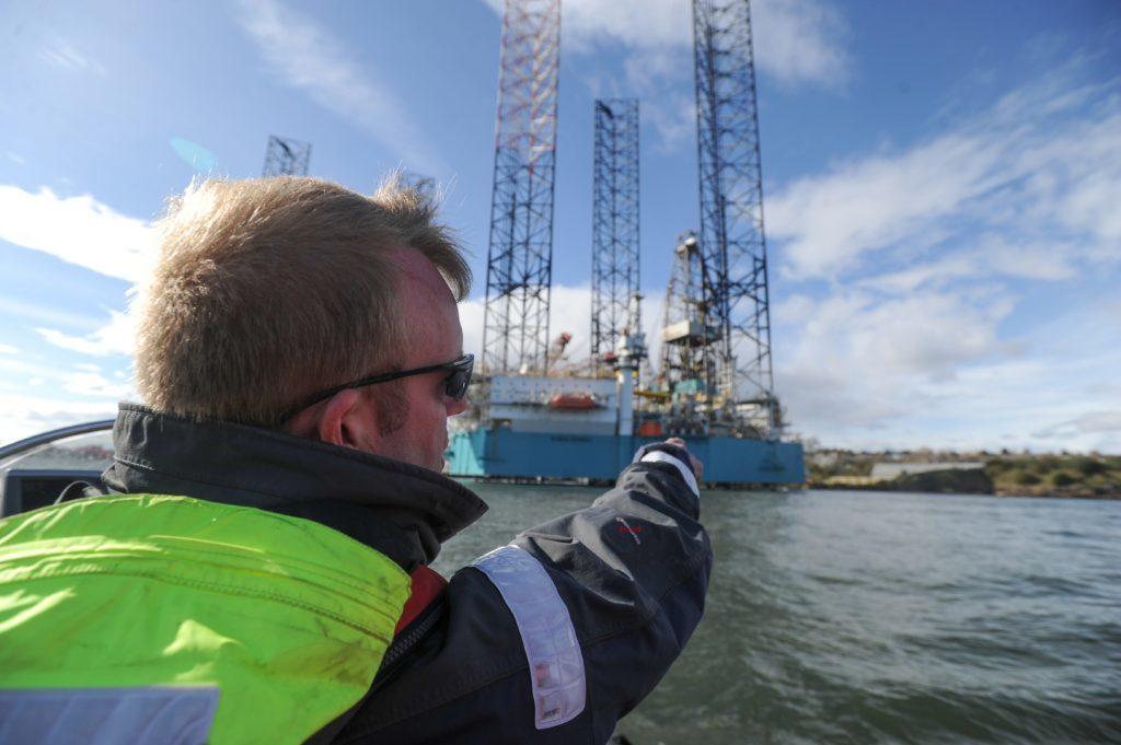 Ian Ashton talks about the drilling platforms.
