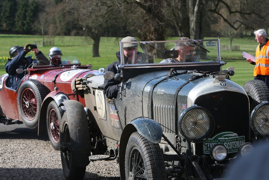 Hundreds of cars dating from the 1930s - and some even older - roamed the Angus countryside.