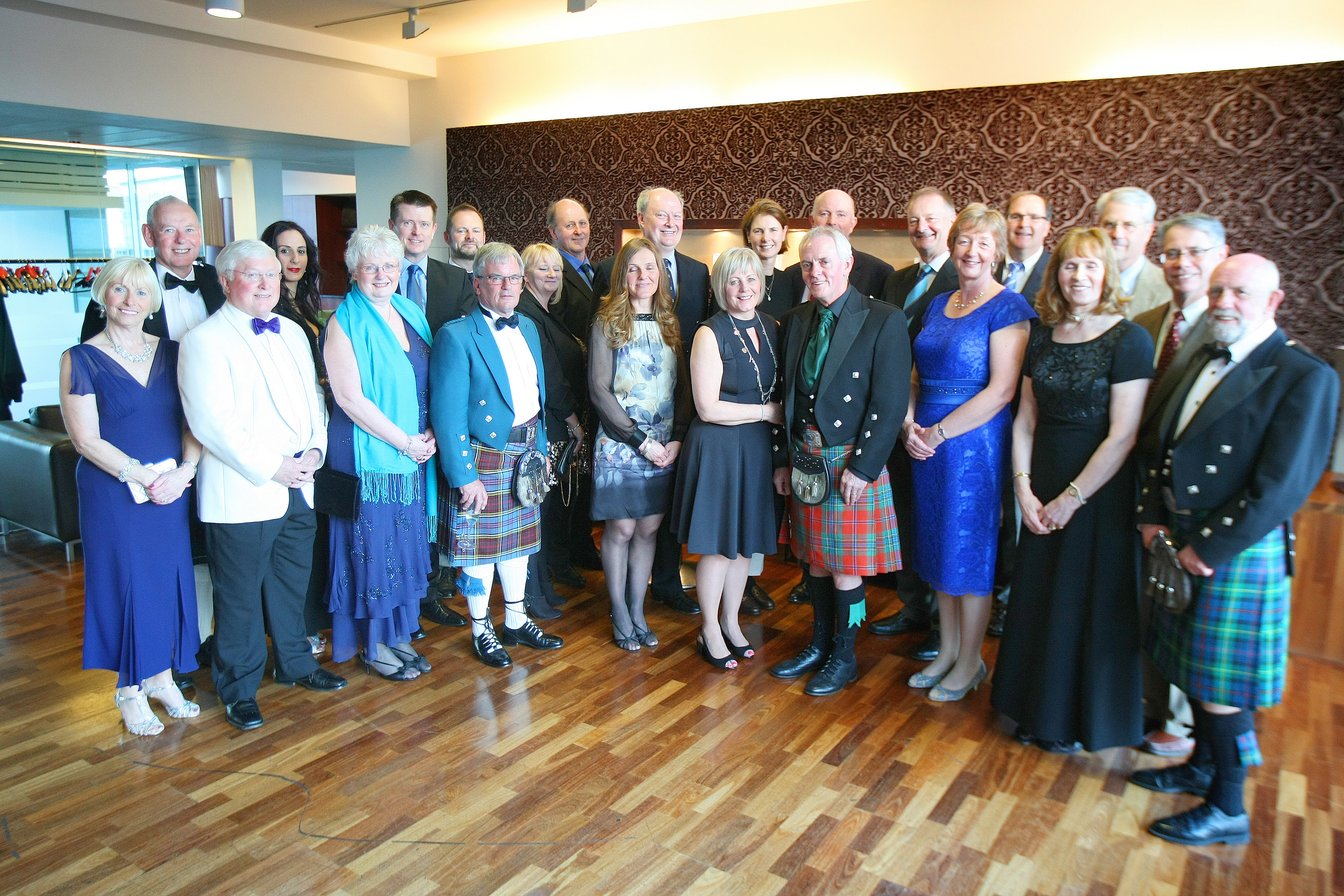 The club captain and other guests at Apex Dundee on April 1.