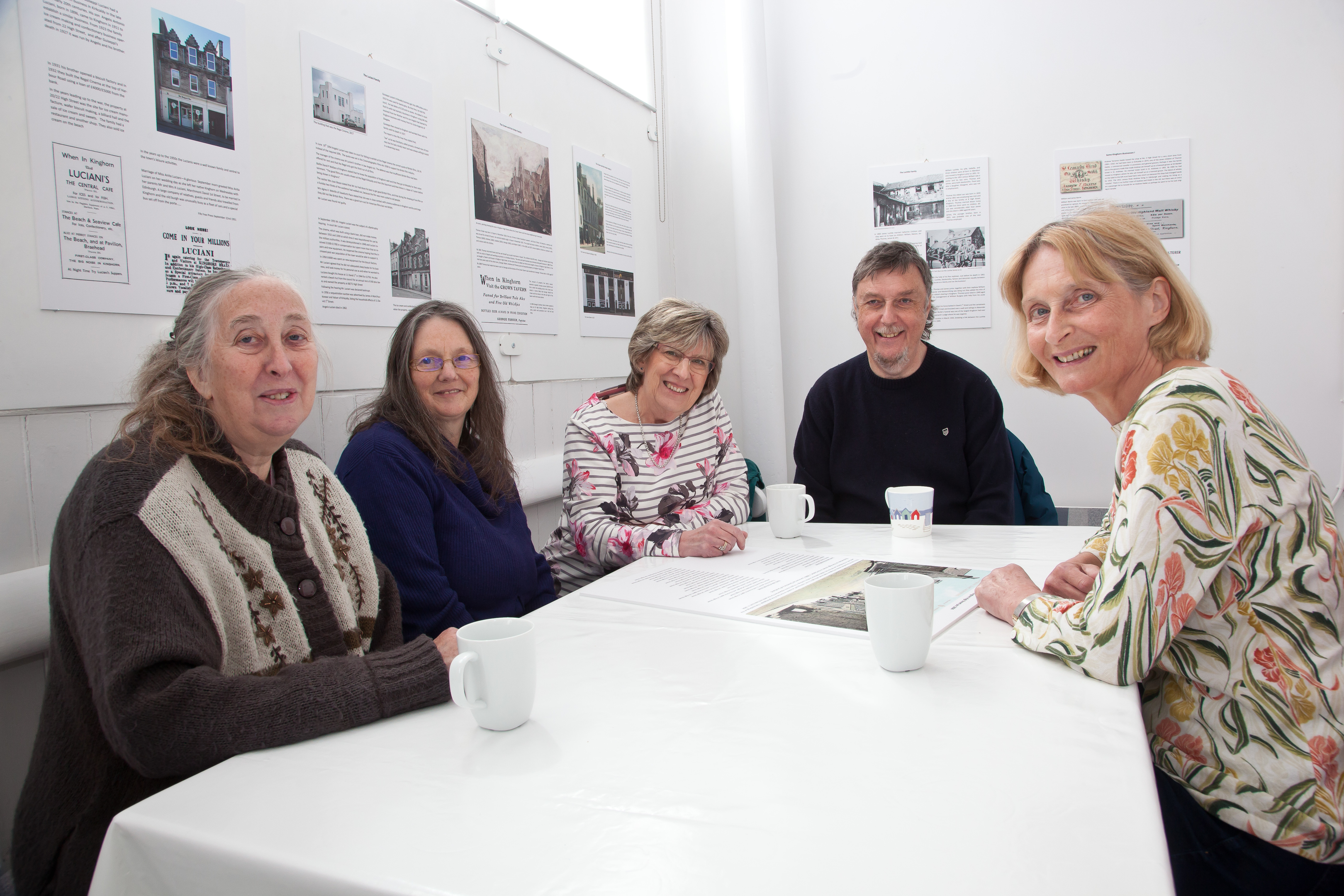 The committee of the Royal Burgh of Kinghorn Historical Society celebrate a Heritage Lottery Fund award of £42,100 for a three-year heritage project in Kinghorn. From left: Carol Rhodes, Catharine Bain, Ginny Reid, Stan Guthrie and Anne MacIver.