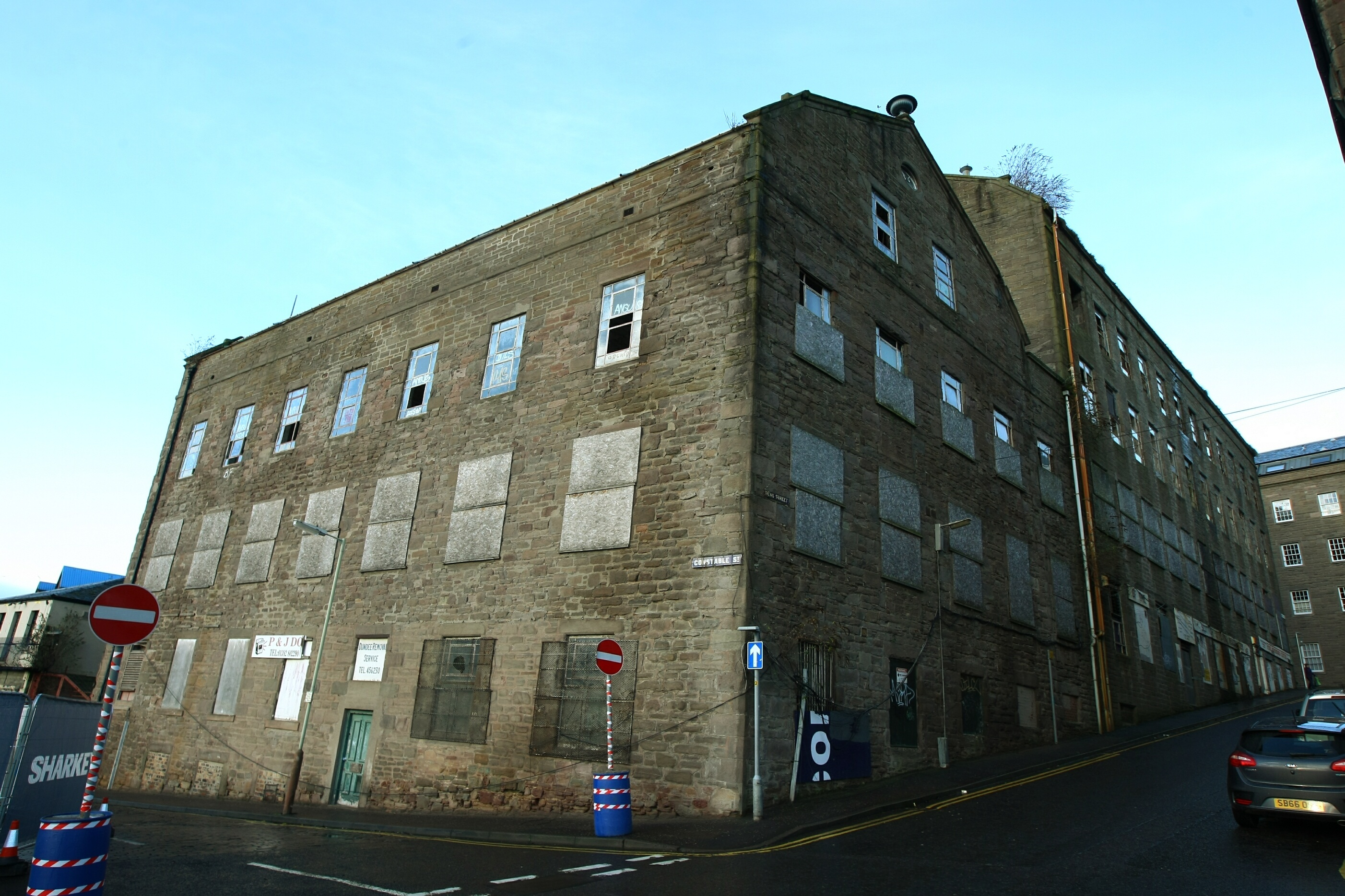 Lower Dens Works is currently derelict.