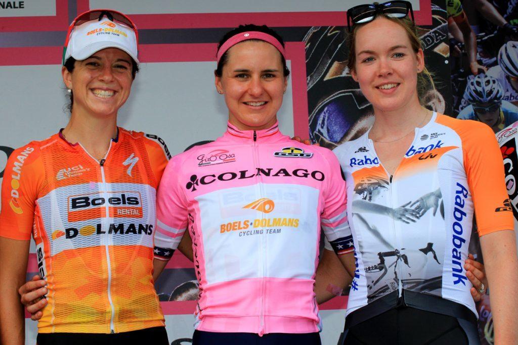 Megan Guarnier wins the 2016 Giro Rosa.