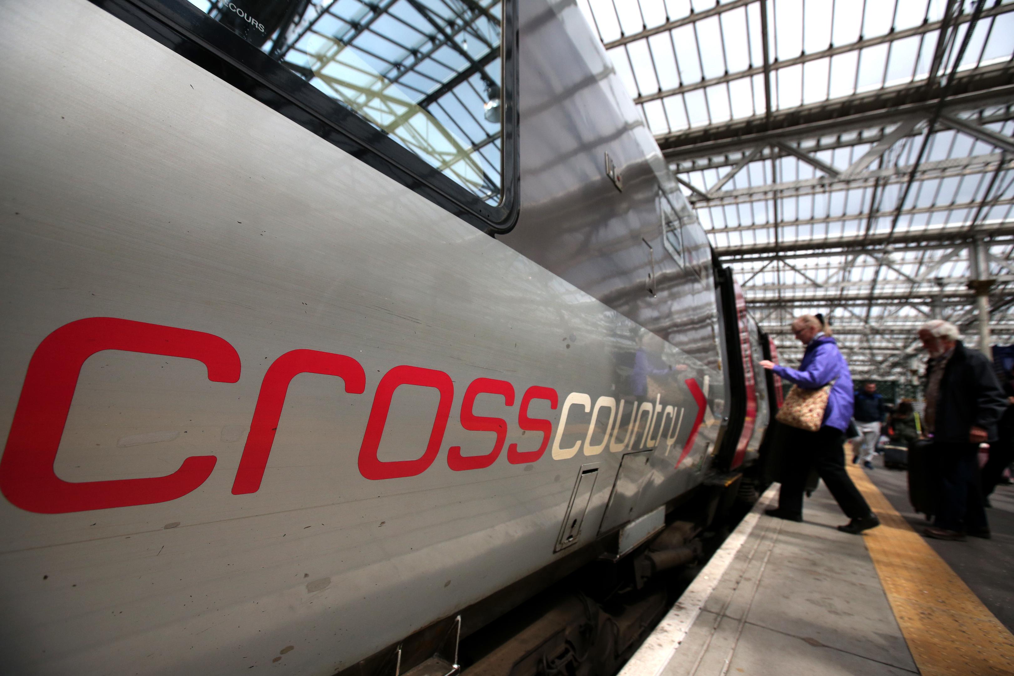 A Crosscountry train at Edinburgh Waverley Station