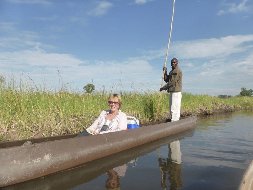 Pom Pom Camp Mokoro Canoe safari Botswana.