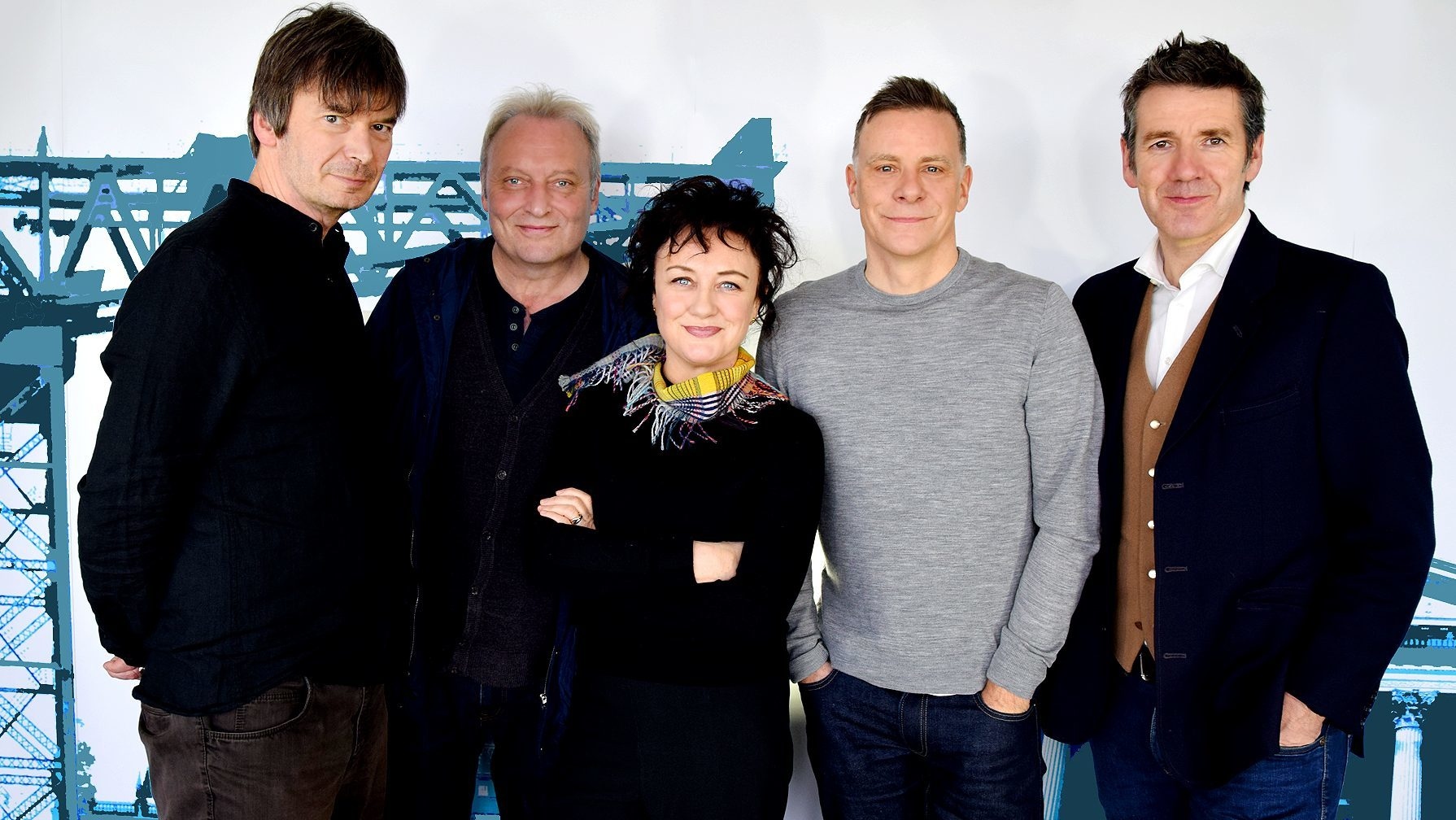 Fife author Ian Rankin (left) celebrates the 30th anniversary of Raintown with Deacon Blue