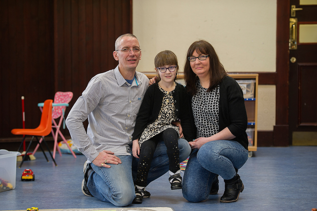 Paul Dewar, Mika Burke and Pauline Burke at a special SBHS playgroup in Rosyth.