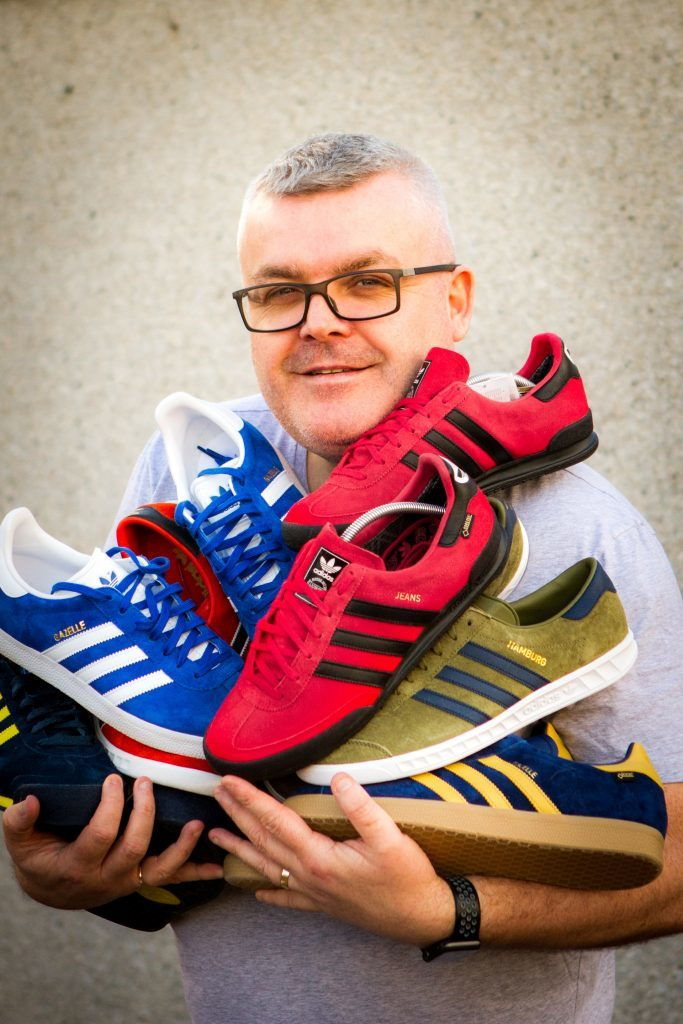 Alan is utterly obsessed with Adidas!
