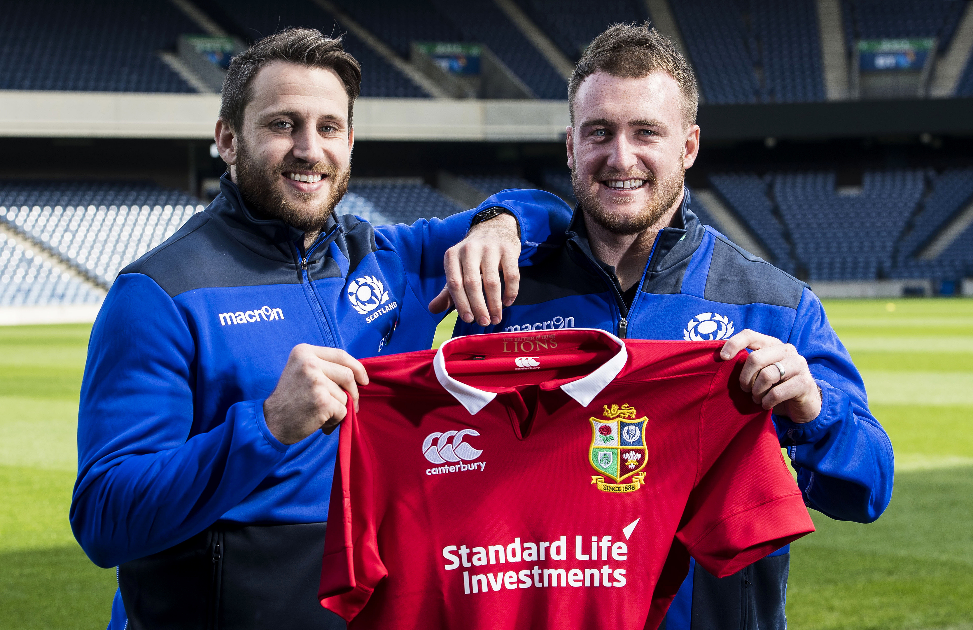 Tommy Seymour and Stuart Hogg won selection for the 2017 Lions Tour to New Zealand.