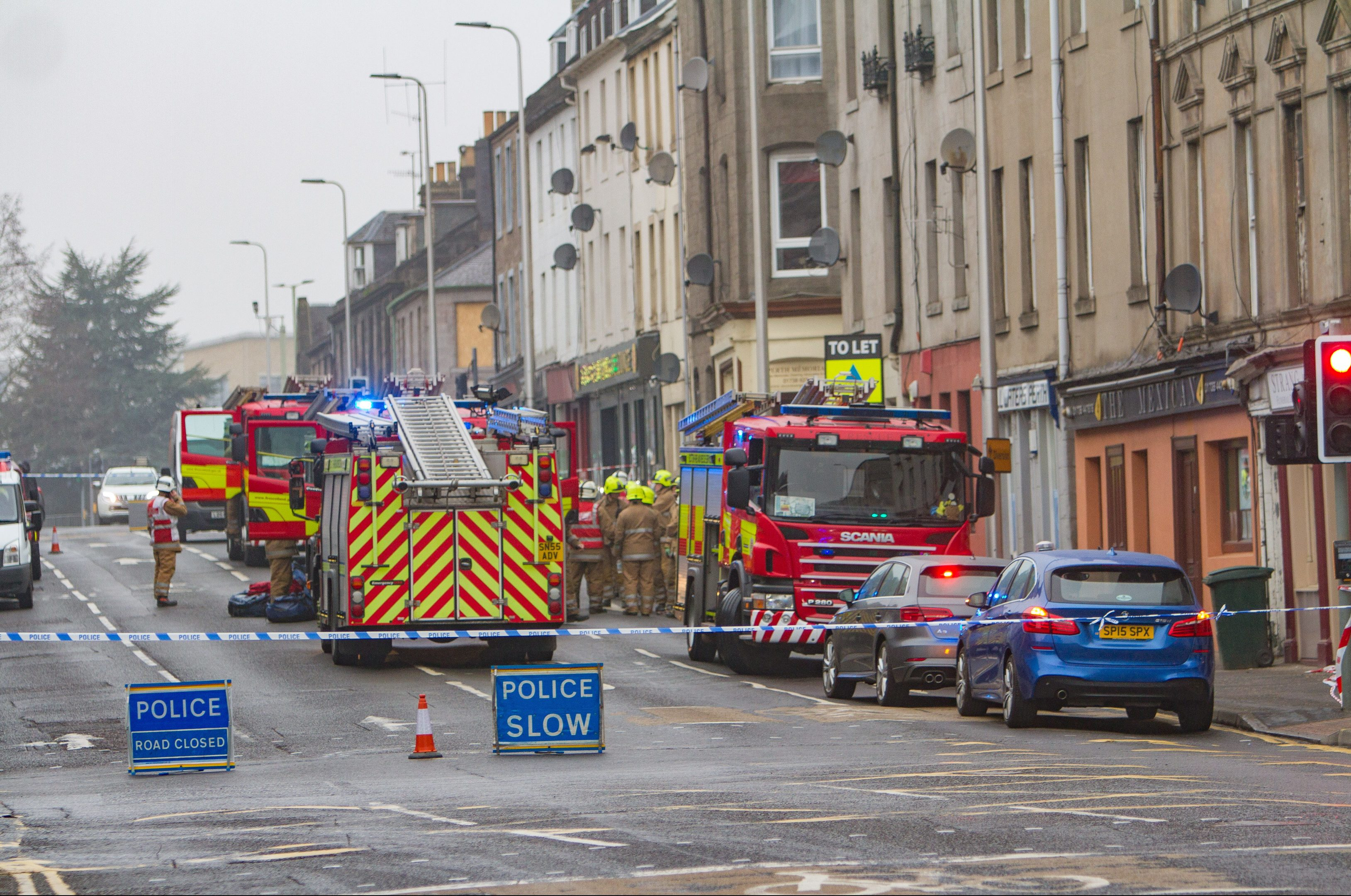 The scene of the collapse in Atholl Street which sparked calls to revamp derelict city centre buildings.