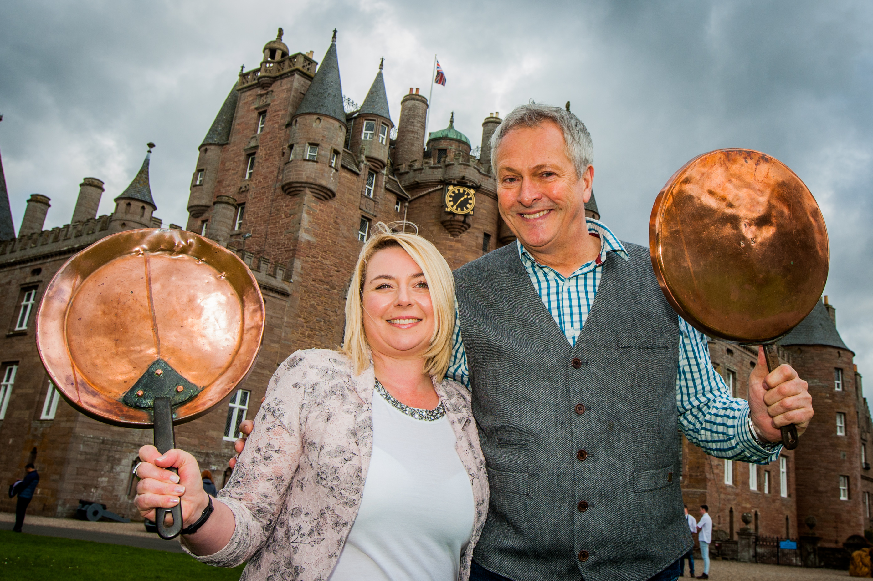 Lucy Sinclair with celebrity chef Nick Nairn at the launch of the Taste Angus Festival.
